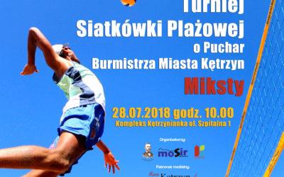 Turniej Siatkówki Plażowej – o puchar Burmistrza Miasta Kętrzyn
