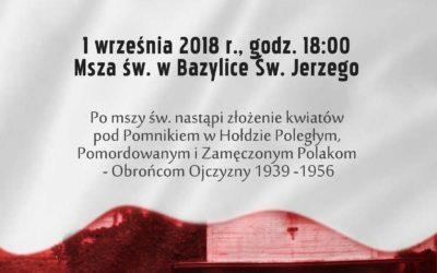 Uroczystości upamiętniające 79. rocznicę wybuchu II Wojny Światowej