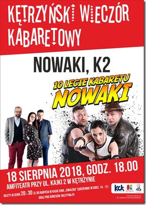"""""""KĘTRZYŃSKI WIECZÓR KABARETOWY"""" 18.08.2018"""