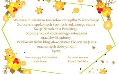 Życzenia dla wszystkich wiernych Kościołów obrządku Wschodniego.