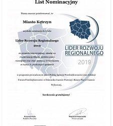 Prestiżowa nominacja dla Miasta Kętrzyn