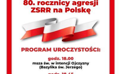 80 Rocznica agresji ZSRR na Polskę – 17 września 2019