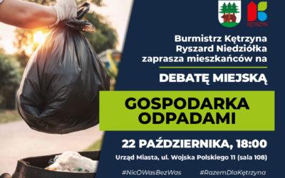 Debata miejska dotycząca gospodarki odpadami – zapraszamy!