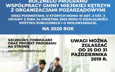 Zapraszamy Organizacje Pozarządowe do udziału w konsultacjach społecznych