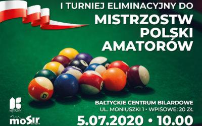 Turniej eliminacyjny do Mistrzostw Polski Amatorów w bilarda – zapraszamy!