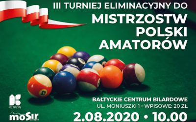 Zapraszamy na III Turniej Eliminacyjny do Mistrzostw Polski Amatorów Bilarda