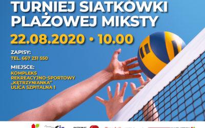 Turniej siatkówki plażowej MIKSTY – ZAPRASZAMY!