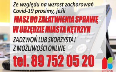 Informacja dotycząca załatwiania spraw w Urzędzie Miasta Kętrzyn