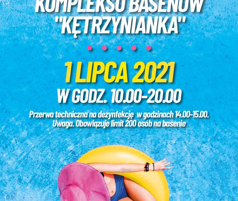 """Od 1 lipca Zapraszamy do kompleksu basenów """"Kętrzynianka"""" !"""