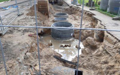 Postęp prac przy przebudowie kanalizacji deszczowej w Kętrzynie