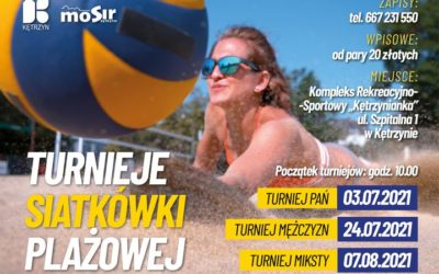 Zaczynamy cykl turniejów siatkówki plażowej. Zapraszamy do udziału.