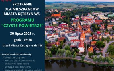 """Spotkanie dla mieszkańców Kętrzyna ws. Programu """"Czyste Powietrze"""""""