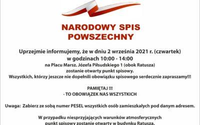 Narodowy Spis Powszechny – punkt spisowy w Kętrzynie