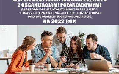 Prace nad rocznym Programem Współpracy na 2022 rok z organizacjami pozarządowymi