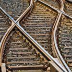 Obrazek przedstawia fragment linii kolejowej